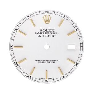 Rolex Datejust white stick dial