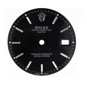Rolex Date black silver stick dial