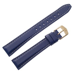 TAG Heuer blue leather strap with original buckle & white stitching at 15mm x 12mm