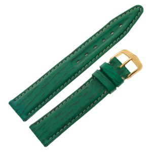 TAG Heuer green leather strap with original buckle