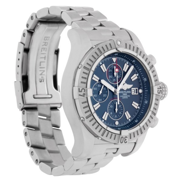 Breitling Super Avenger A13370 Stainless Steel Blue dial 48mm Automatic watch