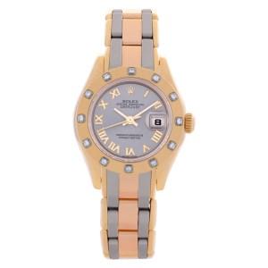 Rolex Pearlmaster 80318 18k 28mm auto watch