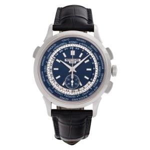 Patek Philippe World Time 5930G 18k white gold 40mm auto watch