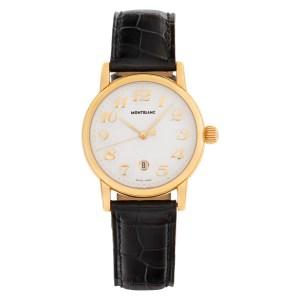 MontBlanc Meisterstuck 7008 18k White dial 31mm Quartz watch