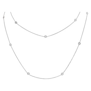 Roberto Coin diamonds by the yard 15 stations necklace