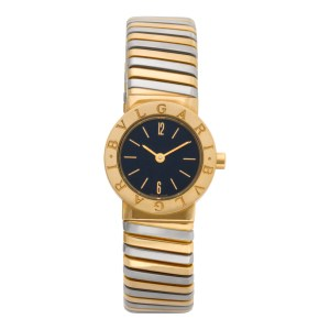 Bvlgari Tubogas BB23T 18k 23mm Quartz watch