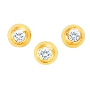 Set of 3 vintage tuxedo diamond cufflinks