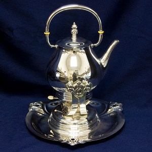 Royal Danish International Silver Sterling Hot Water Kettle on Stand with Burner 11 cups 62.50 oz tr