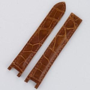 Cartier Pasha honey shiny alligator strap (15x14)