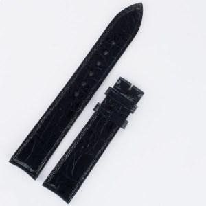 Baume & Mercier Croco Shiny Black strap 18mm x 16mm