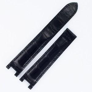 Cartier Pasha black alligator strap (18x16) for deployment buckle.