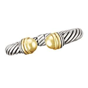 David Yurman 10mm Thoroughbred Bracelet in 14k & sterling silver
