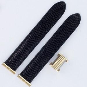 """Boucheron Solis black lizard strap 17mm by lug end 3.5"""" length"""