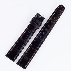 "Patek Philippe Dark Brown  Alligator Strap 16mm x 14mm 4.5"" long & 3.25"" short for tang buckle"