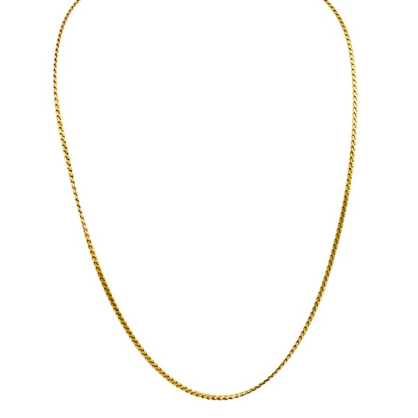 18k gold chain. 8.5 pennyweights.