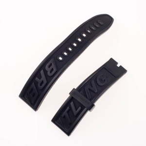 Breitling black rubber strap (22mm x 20mm)