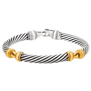 David Yurman bracelet in Sterling Silver & 18k yellow gold