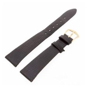 Slightly used Patek Philippe black lizard strap with 18k Patek tang buckle (18x12)