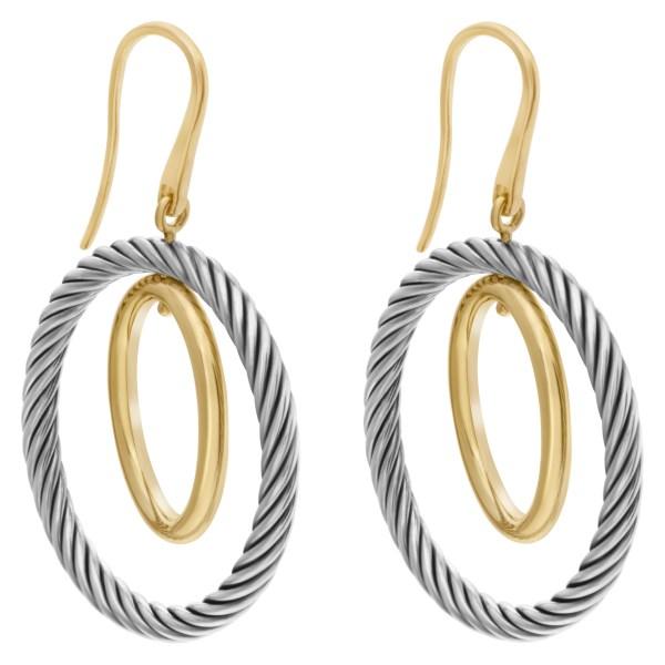 David Yurman Mobile Hoop earrings in 18k and sterling silver