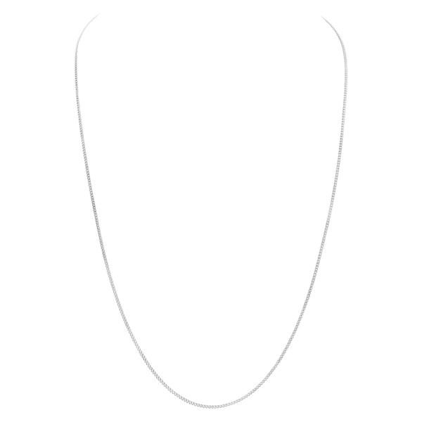 Classic 18k white gold chain