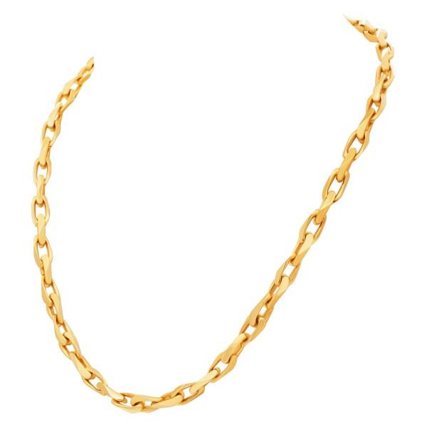 Heavy links chain 18k yellow gold