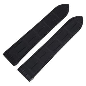 Black Alligator Strap (23mm x 20mm) for Cartier 100 adjustable deploy buckle