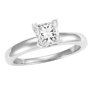 1.04 ct GIA Certified Princess cut diamond (E, VS1)