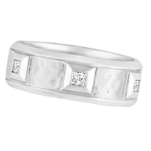 Scott Kay platinum wedding band with 6 diamond accents. 0.30 carats. Size 7