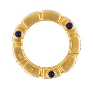 Patek Philippe Twenty-4 Ring 18k rose gold with diamonds & 6 cabochon sapphires.