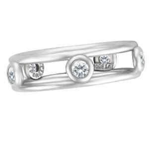 Tiffany & Co. Elsa Peretti platinum ring with 5 diamonds