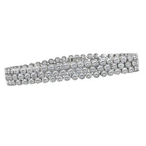 Diamond bracelet in 14k white gold with appr. 4.8 cts in diamonds