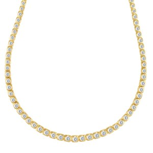 Ladies diamond tennis necklace