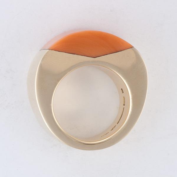 "Vhernier 18k rose gold ""Timpano"" ring"