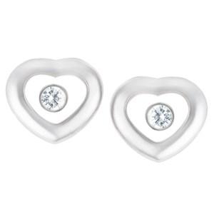 Chopard Miss Happy diamond earrings in 18k white gold