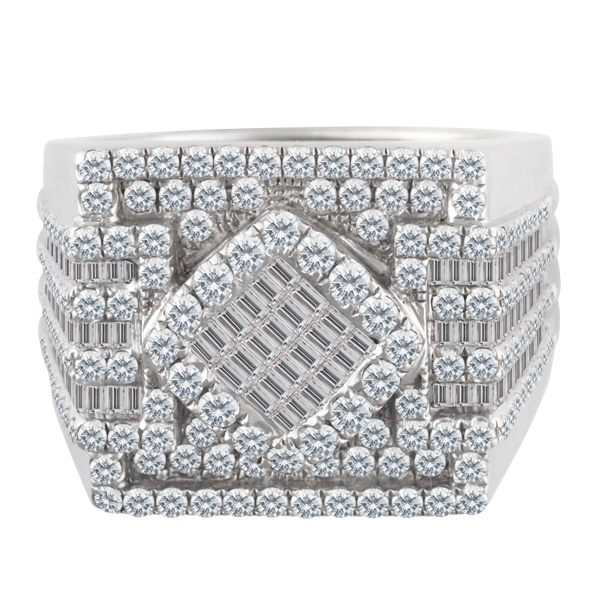 Pave Diamond Ring in 18k white gold. 2.00 carats in diamonds. Size 9