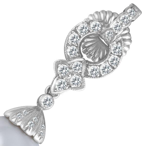 18k white gold drop earrings