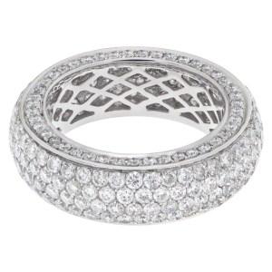 Pave diamond eternity band
