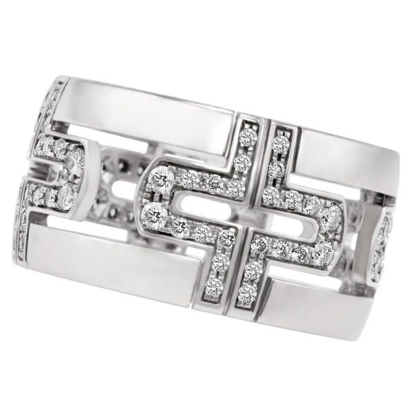 Bvlgari Parentesi Demi ring in 18k white gold