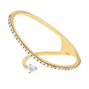 18k yellow gold pave diamond ring. Size 6