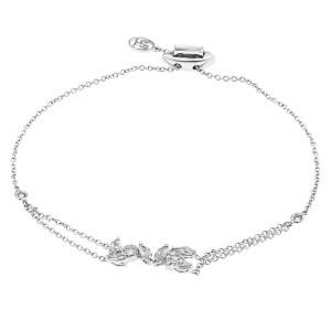 Stefan Hafner adjustable bracelet in 18k white gold. 0.96cts in diamonds.