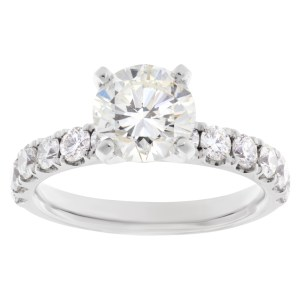GIA certified diamond ring 1.61cts (J color, VS1 clarity)