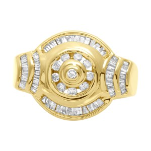 diamond ring in 14k with approx. 0.80 cts in diamonds