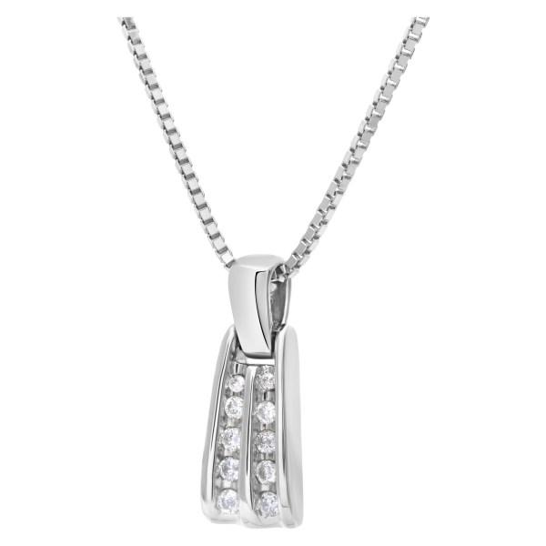 Diamond pendant in 14k white gold. Approximately 0.50 carat in diamonds