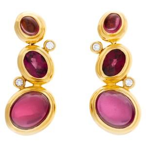 David Yurman earrings with garnert and diamonds