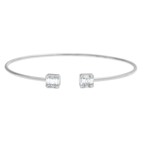Diamond bangle with approximately 0.50 carats in diamonds in 18k white gold