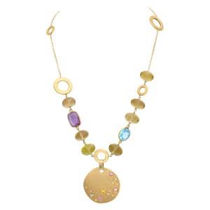 Semi precious necklace in 14k