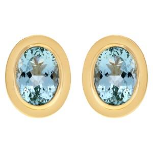 Light blue topaz earings in 14k