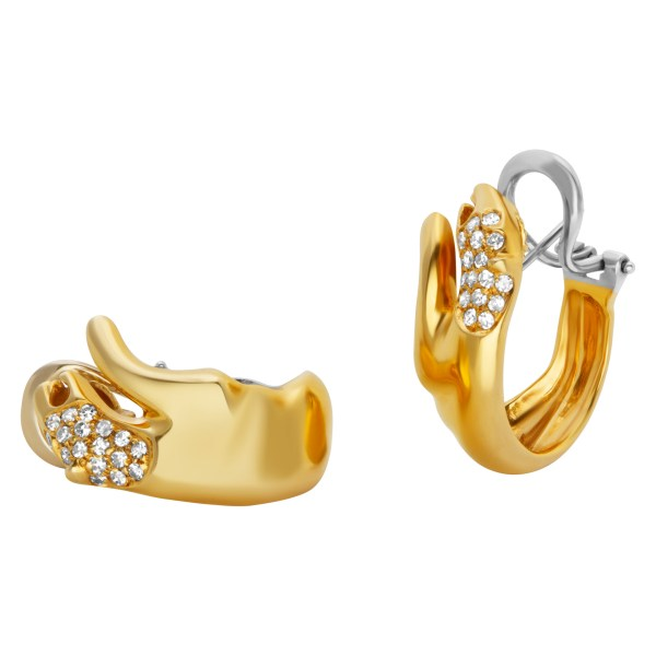 H.Stern wild cats earrings in 18k