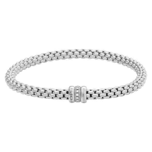 FOPE 18k White Gold Flex Diamond Rondel Bracelet