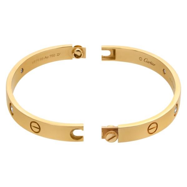 Cartier Love bracelet with 4 diamonds in 18k- Size 17-
